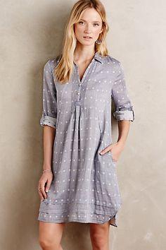 Chambray Dot Shirtdress #anthropologie:$79.95(was $149.00)