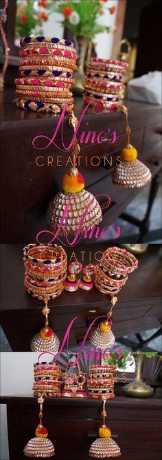 Hand Accessories, Wedding Accessories, Wedding Jewelry, Silk Thread Bangles, Thread Jewellery, Gota Patti Jewellery, Ornaments Design, India Jewelry, Jewelry Patterns