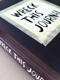 Dutch edition of Wreck This Journal