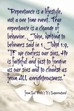 1 John 1:9 Repentance ... #Bible #scripture #1John #SidRoth