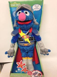 "PTM'S TOY OF THE WEEK from the Museum's item collection: Happy Birthday to Grover, the self-described ""cute, furry little monster! Self Described, Monster Toys, Star Wars Action Figures, Little Monsters, Museum Collection, Barbie Dolls, Smurfs, Disney Characters, Fictional Characters"