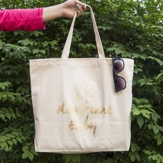 DIY: gold leaf tote