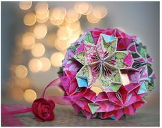 Christmas ornaments...origami ball