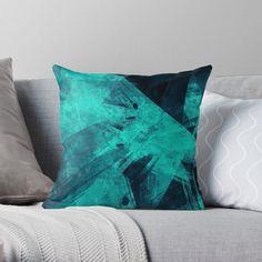'Blue Please' Throw Pillow by Beer-Bones Blue Throw Pillows, Designer Throw Pillows, Pillow Design, My Arts, Vibrant, Beer, Art Prints, Pattern, Ocean