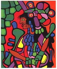 Great Mother - Norval Morrisseau, First Nations Artist. I'd like to try and do this with black bristol board, and collage in the colour with magazines. Native Canadian, Canadian Artists, Native American Art, Stanley Kubrick, Style Tribal, Group Of Seven, Mother Art, Inuit Art, Les Religions