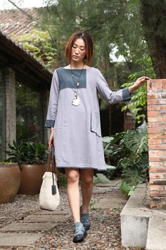 916cf807972 Some way Womens Plus Size Clothing Petite Dress Maternity Day Party Dress  Prom Casual Summer Dress Chic Linen Dress Cotton Dress