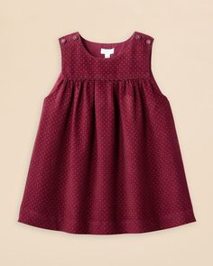Jacadi Girls' Velour Polka Dot Dress – Sizes Months Kids – Bloomingdale's Jacadi Girls' Velour Polka Dot Dress – Sizes Months Baby Girl Dress Patterns, Baby Clothes Patterns, Sewing Kids Clothes, Girls Frock Design, Baby Dress Design, Baby Frocks Designs, Kids Frocks Design, Frocks For Girls, Little Girl Dresses