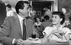 Audrey Hepburn and Gregory Peck - Roman Holiday (1953)
