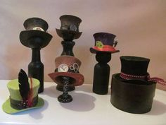 tutorial -mini top hats made with tp rolls