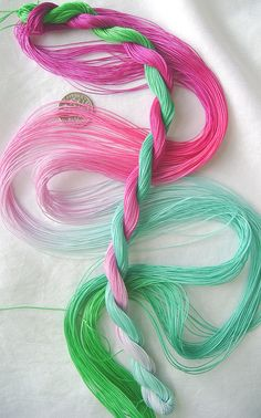 Teenybopper - size 30 hand dyed tatting and crochet cotton -  6 cord cordonnet by Yarnplayer
