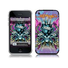 Cell Phone Accessories Fast Deliver Genuine Ed Hardy Iphone 3g 3gs Crystal Decal Love Kills Slowly