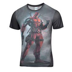 (SS series)  Best Deadpool t-shirt 3d anime Deadpool t shirt 3d Broadcloth Polyester funny  T-shirt male Casual Multi tee shirt
