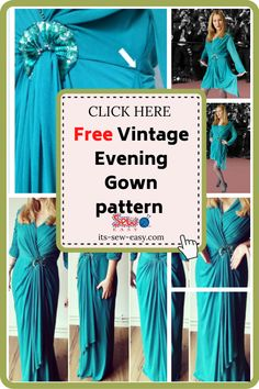 This vintage evening gown pattern will have heads turning every time you wear it. Instead of making the dress from scratch, you can upcycle a cheap dress you see in the thrift shop and turn it into a chic and elegant gown. With a few adjustments here and there, you can make the dress to suit your body size. With this pattern, you can make a dress that you will want to wear every chance you get. #eveninggownpatterns#sewingpatterns#gownsewingpatterns#vintagegownpatterns#sewingvintagegowns Formal Dress Patterns, Unique Formal Dresses, Vintage Patterns, Sewing Patterns, Cheap Dresses, Prom Dresses, Evening Gown Pattern, Vintage Evening Gowns, Elegant Gown