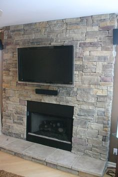 Stone Veneer Fireplace Design, Pictures, Remodel, Decor and Ideas - page 9