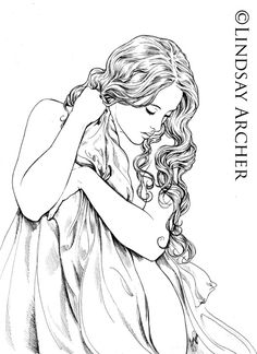 "If you are wondering why ""rose"" her hair will be red. The model for this piece is the lovely Wendi who is featured in other paintings such as Vintage and the drawing of Ophelia's Last Breath. ..."