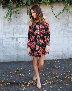 Cicci Floral Knit Dress