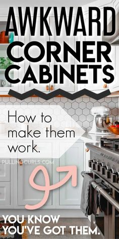 How to Organize Corner Cabinets Kitchen Cabinet Organization, Home Organization, Organizing, Kitchen Storage, Dream Home Design, House Design, Cabinet Space, House Smells, Storage Spaces
