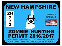 1000 images about zombie hunting permits on pinterest for New hampshire fishing license