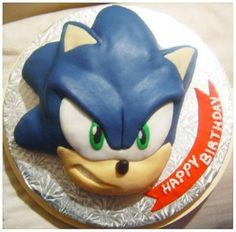 Sonic the hedgehog cake Sonic Birthday Cake, Sonic Cake, 5th Birthday, Birthday Cakes, Birthday Ideas, Birthday Parties, Wedding Cakes With Cupcakes, Party Cakes, Cupcake Cakes