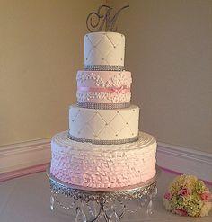Love this cake. Beautiful Wedding Cakes, Gorgeous Cakes, Pretty Cakes, Wedding Cake Inspiration, Wedding Ideas, Cake Cookies, Cupcake Cakes, Danish Bakery, Types Of Cakes