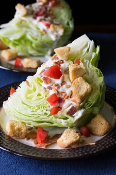This classic wedge salad recipe is made with crisp iceberg lettuce, crumbly bacon, creamy dressing, and more. You'll love the delicious flavor and texture!