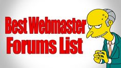 List Of Best Webmaster Forums