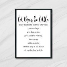 Let Them Be Little, Let It Be, Nursery Wall Art, Nursery Decor, Printing Services, Online Printing, Printable Art, Printables, Vintage Ephemera