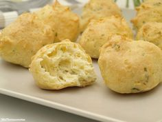 Choux de bacalao - MisThermorecetas Beignets, Canapes, Antipasto, Fish And Seafood, Cornbread, Muffin, Cooking, Breakfast, Ethnic Recipes