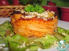 Запеканка из пасты с баклажанами - кулинарный рецепт