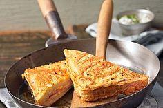 Arme Ritter - Toast mit Käse und Schinken