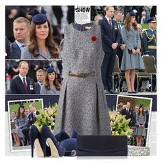 """""""Kate Middleton stunning to a commemorative ceremony at Australia's War Memorial on Anzac Day."""" by bklana ❤ liked on Polyvore featuring Michael Kors, Rupert Sanderson and modern"""