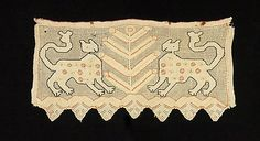 1800–1850 Culture: Russian Medium: Linen, silk Dimensions: 15 x 7 in. (38.1 x 17.8 cm) Classification: Textiles Credit Line: Brooklyn Museum...