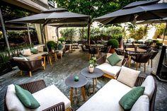 Terrasse vegan bar de l'hôtel du Collectionneur