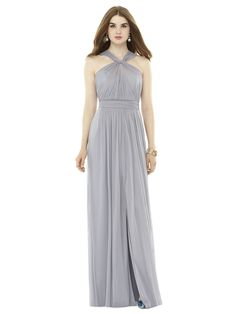 This bridesmaid dress from Monica's is one that your girls will actually want to wear! It's criss-cross neck and flowing bottom is so beautiful! Click the image to learn more. Photo credit: Monica's