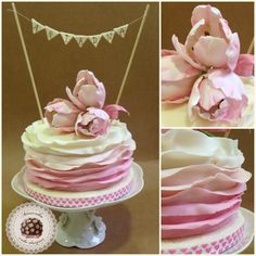 Ruffle&Tulips cake  - Cake by Mericakes