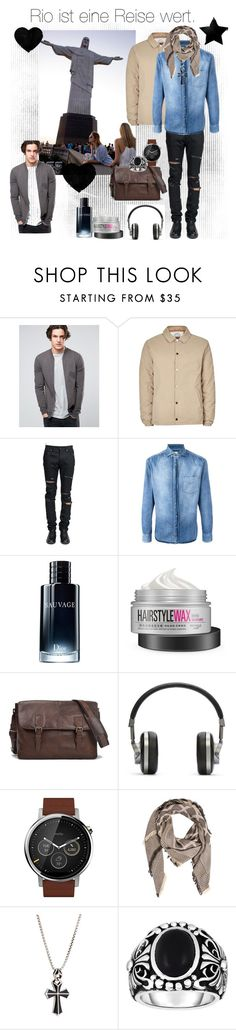 """Rio"" by chrissy-50 ❤ liked on Polyvore featuring ASOS, Topman, Yves Saint Laurent, Brunello Cucinelli, Christian Dior, Terracomo, Master & Dynamic, Motorola, Look by M and Stephen Webster"