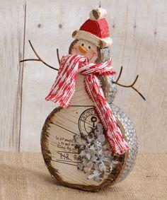 Love this Stocking Cap Postcard Snowman Figurine on #zulily! #zulilyfinds