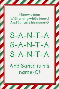 "I love a circle time activity that is chock full of learning and has the class erupting into a chorus of giggles! This week I taught a Santa song (to the tune of ""Bingo""). Academically, it is great for letter recognition and for practicing one-to-one matching. (Some of my 3-year-olds are now able to spell... Read More »"