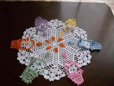 Bunny In A Basket Crochet Easter Doily by MyDreamCrochets on Etsy, $30.00