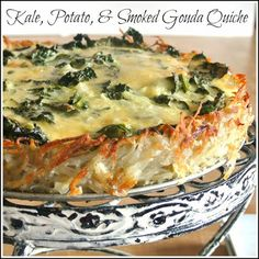 Gluten-Free Kale, Potato, and Gouda Quiche