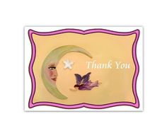 Thank You Digital Card Fairy MoonMoon Fairy by CowberryMoonCards
