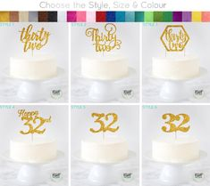 Forty Two Cake Topper, 42 Cake Topper, Fortytwo Cake Topper, Happy 42 Birthday Decor, Dec 30 Cake Topper, Cupcake Toppers, Script Font Style, Swirly Fonts, 32 Birthday, Birthday Cakes, Birthday Ideas, Pastel, Dessert Decoration