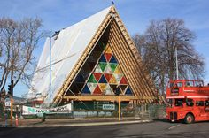 TOP 10 temporary structures of 2013 - shigeru ban cardboard christchurch cathedral complete in new zealand