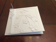 Wedding card in all white