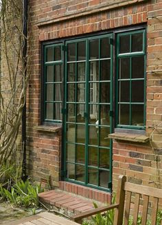 EB24 Clement steel doors French Windows, French Doors, Crittal Doors, Crittall, Unique Doors, Brick Building, Steel Doors, Patio Ideas, Windows And Doors