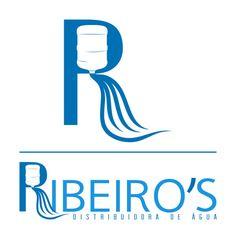 Logotipo para a Ribeiro's, distribuidora de água.