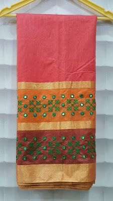 Designer french Knot Saree With embroidery work Indian Embroidery, Hand Embroidery, Embroidery Designs, Kutch Work Saree, Work Sarees, Handloom Saree, Patiala Salwar, Kurti, Necklace For Neckline