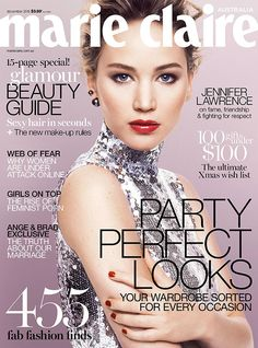 Jennifer Lawrence for Marie Claire Australia December 2015 cover - Dior Pre-Fall 2015
