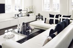 MONOCHROME LIVING ROOM @kellyhoppen Exclusive furniture, designer furniture, exclusive design. For more inspirations: http://www.covetlounge.net/all-products/