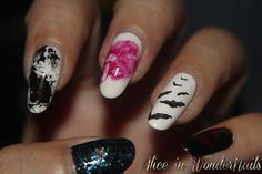 Books and Films Collection on Alice in WonderNails: #2 HORROR with Supernatural inspired nail art